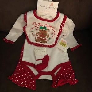 """NWT """"My First Christmas"""" outfit"""